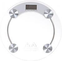 Весы напольные Domotec  MS-2003A до 150 кг круглые стеклянные