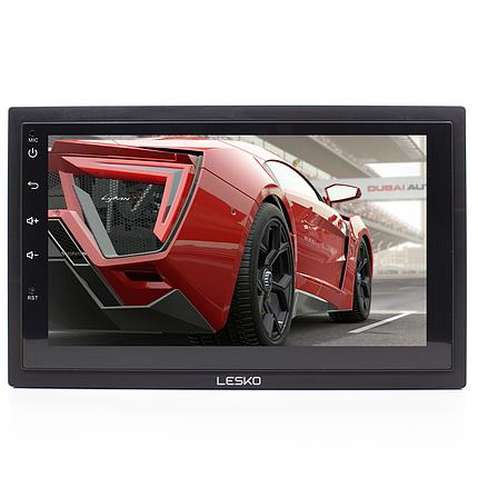 ➜Автомагнитола Lesko 7003А 2DIN 7-ми дюймовый экран с Android 8.1 функция навигатора GPS Bluetooth Wi Fi, фото 2