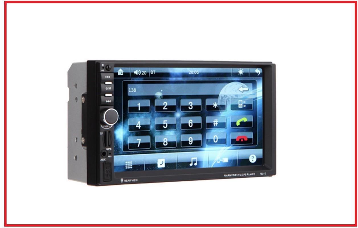 Автомагнитола pioneer 2DIN 7018 Little + GPS (20)