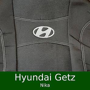 Чехлы на сиденья Hyundai Getz (цельный/раздельный) (Nika)