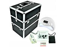 Маникюрный набор + фрезерный станок JD500 + лампа УФ / LED