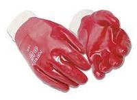 Перчатки красные ПВХ мягкий манжет