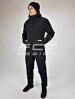 Костюм зимний Хантер термо флис Софтшелл черный
