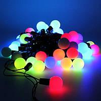 Гирлянда чёрный шнур шарики твинки большие 40 ламп