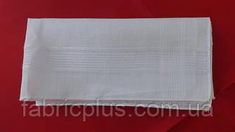 Носовой платок мужской белый батистовый