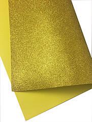Фоамиран з листової глитером 50 х 50 см золото