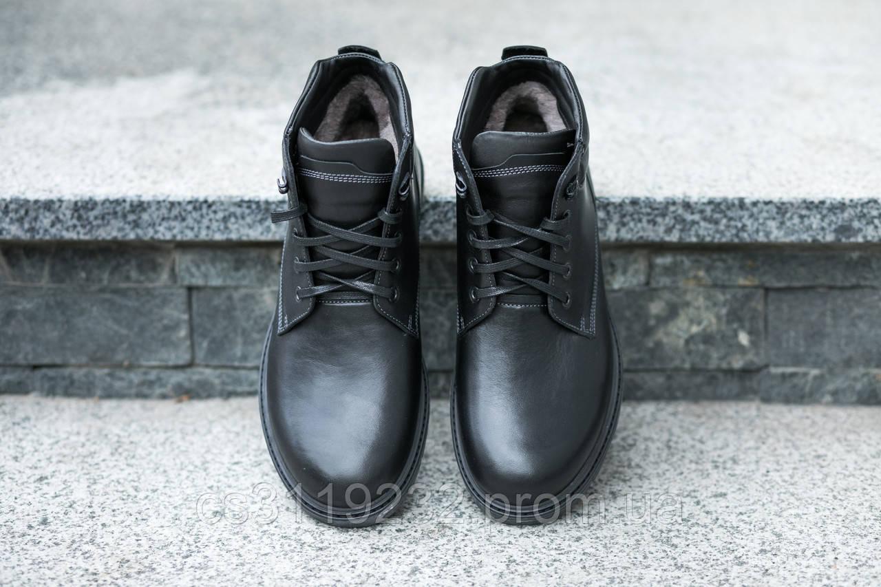 Крепкие кожаные ботинки для суровой зимы