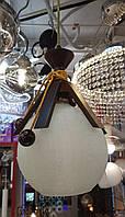 Люстра-светильник подвесной 9150 стеклянный матовый шар в лапках