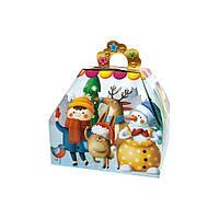 Новорічна упаковка Скринька для подарков 300-400г оптом от 1000шт