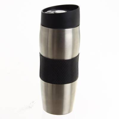 Термостакан из нержавеющей стали с поилкой BN-40 черная (380 мл), фото 2
