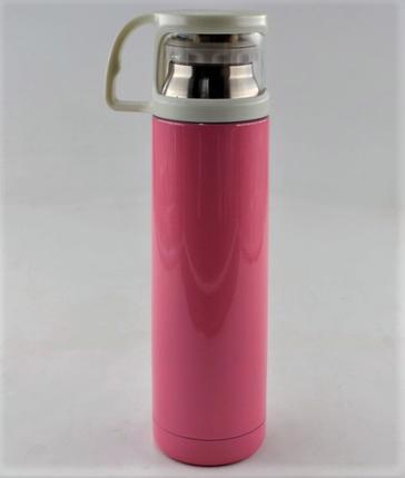 Термос вакуумный из нержавеющей стали BENSON  BN-46 Розовый (350 мл), фото 2