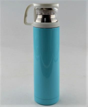 Термос вакуумный из нержавеющей стали BENSON BN-46 Голубой (350 мл), фото 2