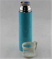 Термос вакуумный из нержавеющей стали BENSON BN-46 Голубой (350 мл), фото 3