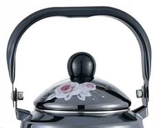 Чайник с подвижной ручкой Benson BN-103 черный с рисунком (2.5 л), фото 3