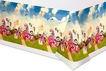 Скатерть праздничная с рисункомПони 1397