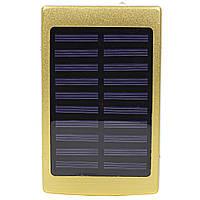 ☛Power bank Solar PB-6 Gold 20000mAh с солнечной батареей 2хUSB microUSB стробоскоп для смартфона планшета