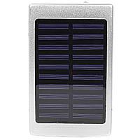 ✸Power bank Solar PB-6 Silver 20000 mAh повер банк портативное зарядное устройство солнечная панель
