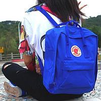 Молодежный рюкзак, сумка Fjallraven Kanken Classic, канкен класик. Синий (электрик) / 7103, фото 1