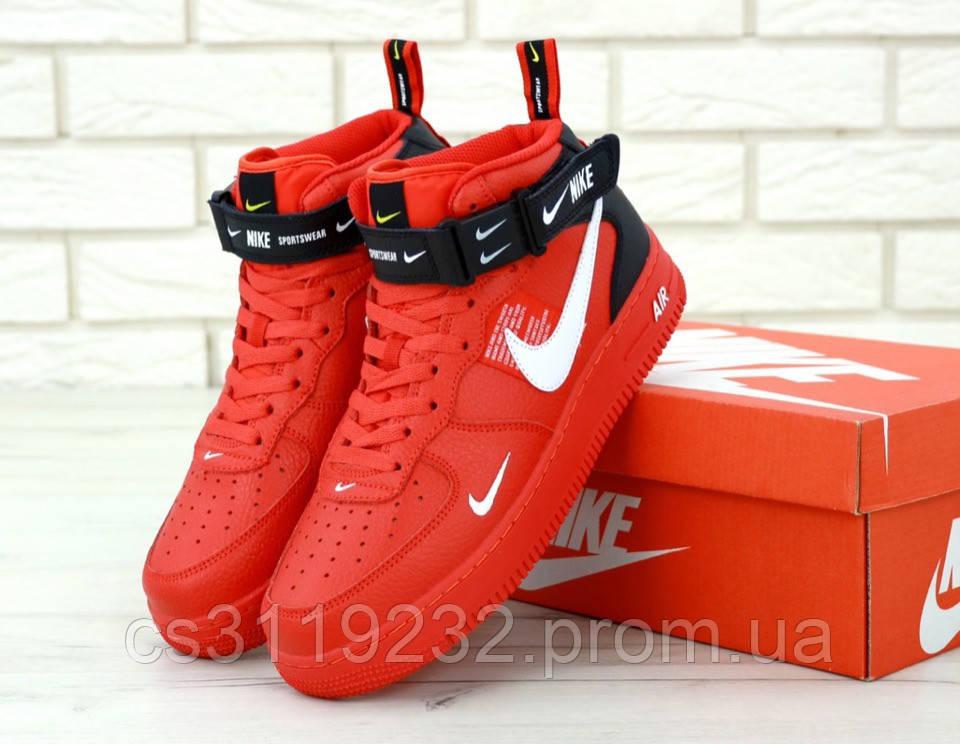 Мужские кроссовки Nike Air Force Just Do It (красные)