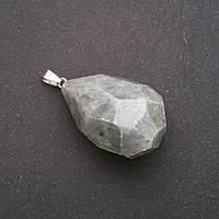 Кулон из натурального камня Лабрадор граненная капля 50х40х20мм