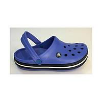 Летняя обувь Сабо Кроксы Crocs Crocband Blue&dark Крокс Крокбенд