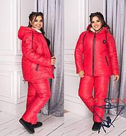 Спортивный лыжный костюм больших размеров