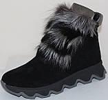 Ботинки молодежные женские с натуральным мехом от производителя модель УН433, фото 2