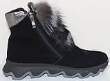 Ботинки молодежные женские с натуральным мехом от производителя модель УН433, фото 3