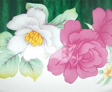 Кастрюля эмалированная с крышкой Benson BN-115 белая с цветочным декором (5.9 л), фото 3