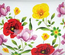 Каструля емальована з кришкою Benson BN-116 біла з квітковим декором (1,9 л), фото 3