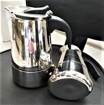 Индукционная гейзерная кофеварка из нержавеющей стали на 4 чашки Benson BN-152, фото 3