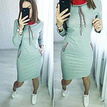 Стильное платье до колен с карманами черное, фото 3
