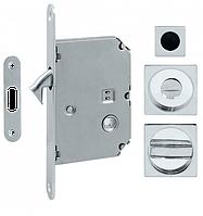 Ручка для раздвижных дверей Fimet 3667R+LOCK+MQ матовый хром (Италия)