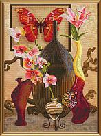 Набор для вышивки в смешанной технике Прикосновение бабочки ННД2062