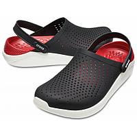 Мужские Кроксы Сабо Crocs LiteRide™ Clog Black/white (черные)
