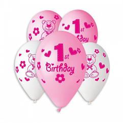 Воздушные шары  1 годик девочке