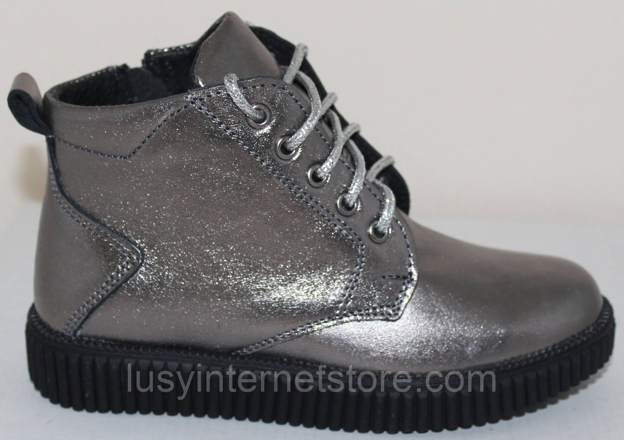 Ботинки кожаные демисезонные для девочки от производителя модель СЛ541Д