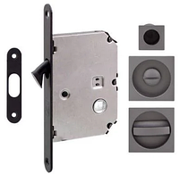 Ручка для раздвижных дверей Fimet 3667R+LOCK+MQ антрацит (Италия)