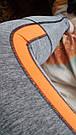 Спортивные лосины серые с оранжевым №34 — (M,L) леггинсы для спорта, фото 3