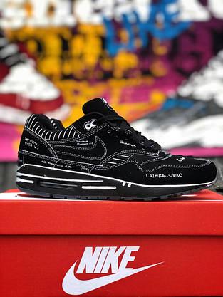 Nike Air Max 1 Sketch To Shelf Schematic Black Черные, фото 3