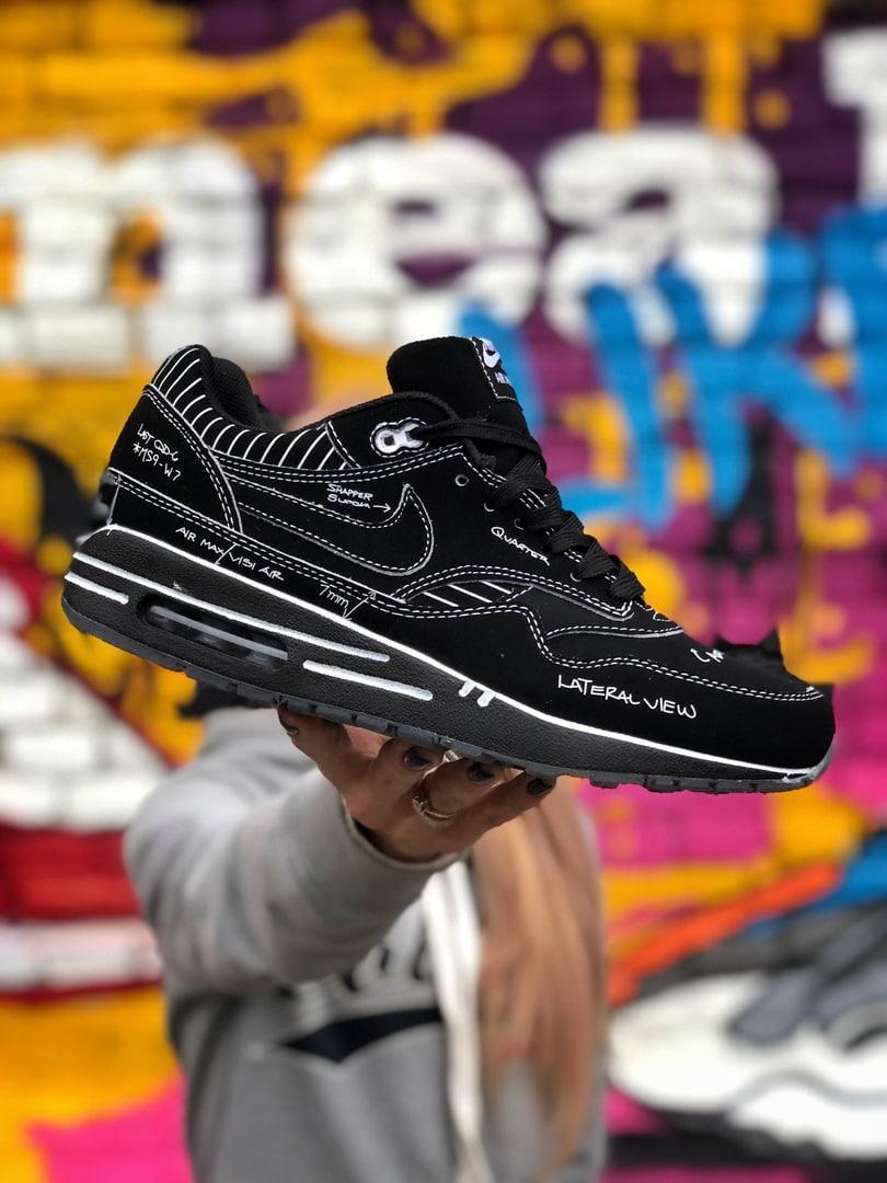 Nike Air Max 1 Sketch To Shelf Schematic Black Черные