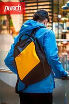 Рюкзак для города, PUNCH, черно-желтый, спортивный рюкзак, стильный, молодежный рюкзак, фото 3