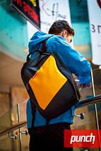 Рюкзак для города, PUNCH, черно-желтый, спортивный рюкзак, стильный, молодежный рюкзак, фото 2