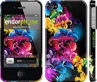"""Чехол на iPhone 4 Абстрактные цветы """"511c-15"""""""
