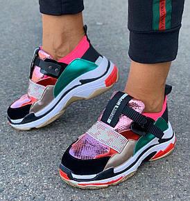 Кросівки жіночі 6 пар в ящику рожевого кольору 36-40