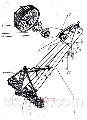 Скребок тран-ра ЗМ-60 в зборі, фото 2