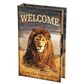 Книга-сейф на кодовом замке Царь зверей 26*17*5см (0001-001)