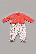 Комбинезон с длинным рукавом для новорожденной девочки с рюшей