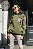 Модный женский теплый свитшот 630