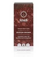 Натуральная краска для волос, Хна для волос  «Средний-коричневый» (Medium Brown) Khadi, 100 г